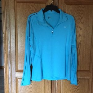 Champion teal pullover.